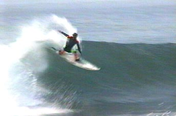 Surfer at Redondo Breakwater, January 2001.